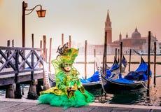 Carnaval 2018 de Veneza, pra?a San Marco, It?lia fotografia de stock royalty free