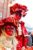 Carnaval 2019 de Venise Place de San Marco Modèle masqué vénitien sur les rues de Laguna photos stock