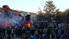 Carnaval de Verona, Italia almacen de metraje de vídeo