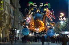 Carnaval de Viareggio 2011, Italie Photos libres de droits