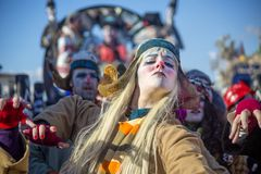 Carnaval de Viareggio Images stock