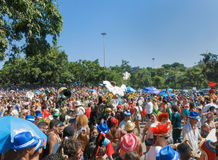 Carnaval del desfile de la calle - Rio de Janeiro, el Brasil 9 DE FEBRERO DE 2016 Fotos de archivo
