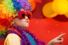 Carnaval del niño - el Brasil Foto de archivo
