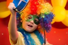 Carnaval del niño - el Brasil Fotos de archivo