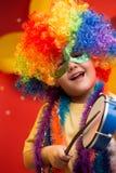 Carnaval del niño - el Brasil Imagen de archivo libre de regalías