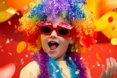 Carnaval del niño - el Brasil imagen de archivo