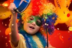Carnaval del niño - el Brasil Foto de archivo libre de regalías