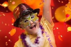 Carnaval del niño - el Brasil Imagenes de archivo