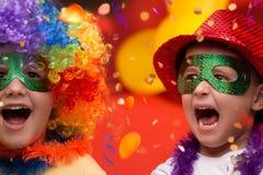 Carnaval del niño - el Brasil Fotos de archivo libres de regalías