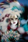 Carnaval del retrato de la máscara de Venecia Italia Imagen de archivo libre de regalías