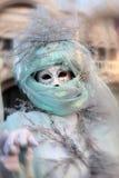 Carnaval del retrato de la máscara de Venecia Italia Fotografía de archivo libre de regalías