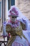 Carnaval del traje de Person Venetian Imagen de archivo