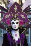 Carnaval del traje de Person Venetian Fotos de archivo