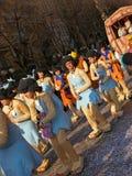 Carnaval - desfile de los caracteres de Flinstones Foto de archivo