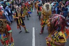 Carnaval do distrito de Semarang do aniversário das culturas Fotos de Stock Royalty Free