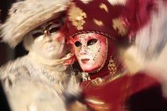 Carnaval do retrato da máscara de Veneza italy Fotos de Stock Royalty Free
