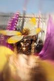 Carnaval do retrato da máscara de Veneza italy Foto de Stock