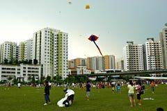 Carnaval do voo do papagaio fotos de stock