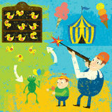 Carnaval Duck Game Winner vector illustratie