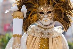 Carnaval, el tiempo del partido en Venetia, Italia fotos de archivo
