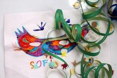 Carnaval en de tekeningen van kinderen Royalty-vrije Stock Afbeeldingen