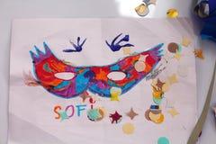 Carnaval en de tekeningen van kinderen Royalty-vrije Stock Foto