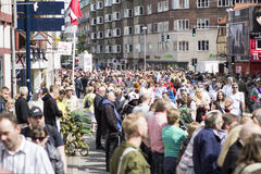 Carnaval en Europa, Dinamarca, Aalborg Foto de archivo libre de regalías