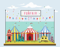 Carnaval en funfair stock illustratie