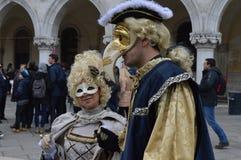 Carnaval en Venecia Imágenes de archivo libres de regalías