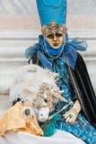 Carnaval en Venecia Italia Imagen de archivo
