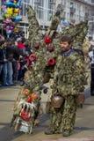 Carnaval enorme de la máscara de Surva Kuker Imágenes de archivo libres de regalías