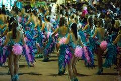Carnaval espagnol dans le temps de soirée Sitges, Catalogne Image libre de droits