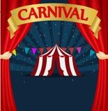 Carnaval et affiche de tente de cirque illustration stock