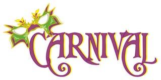 Carnaval et un masque illustration libre de droits