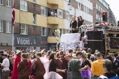 Carnaval in Europa, Denemarken, Aalborg stock afbeelding