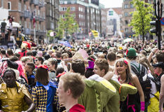 Carnaval in Europa, Denemarken, Aalborg stock foto