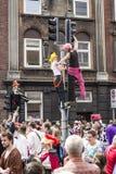Carnaval in Europa, Denemarken, Aalborg stock afbeeldingen