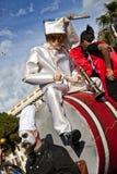 Carnaval famoso de agradável, batalha do ` das flores Este é o evento principal do inverno do Riviera Fotografia de Stock