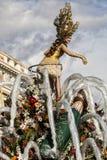 Carnaval famoso de agradável, batalha do ` das flores Grande flutuador dedicado ao champanhe foto de stock