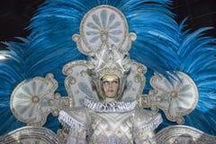 Carnaval-fantasie van de sambascholen stock fotografie