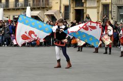 Carnaval in Florence. Stock Foto
