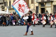 Carnaval in Florence. Stock Fotografie