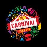 Carnaval funfair royalty-vrije illustratie