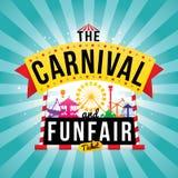 Carnaval funfair vector illustratie