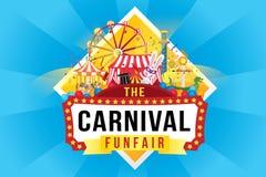 Carnaval funfair en magisch toont vector illustratie