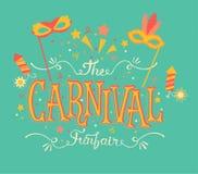 Carnaval funfair en vuurwerk Royalty-vrije Stock Afbeelding
