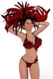 Carnaval girl smilling. The carnaval girl from rio de janeiro Brazil Royalty Free Stock Image