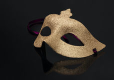 Carnaval golden mask Royalty Free Stock Photos