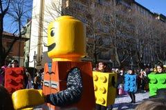 Carnaval - grupo de Lego Imagen de archivo