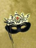 Carnaval-het masker op schittert achtergrond Royalty-vrije Stock Fotografie